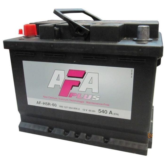 Аккумуляторная батарея AFA HS-N2, 60 А/ч - 6СТ АПЗ низ., обратная полярность