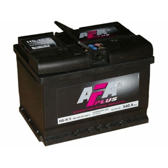 Аккумуляторная батарея AFA HS-N2, 60 А/ч - 6СТ АПЗ, прямая полярность