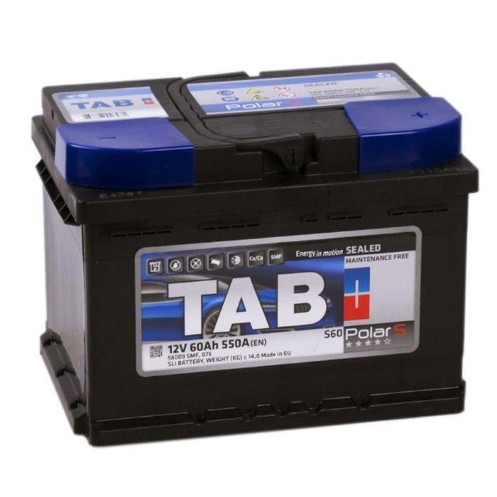 Аккумуляторная батарея TAB Polar 60 А/ч - 6СТ АПЗ, обратная полярность низ.