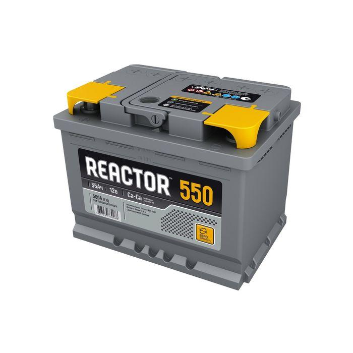 Аккумуляторная батарея REACTOR 55 А/ч - 6 СТ АПЗ, обратная полярность