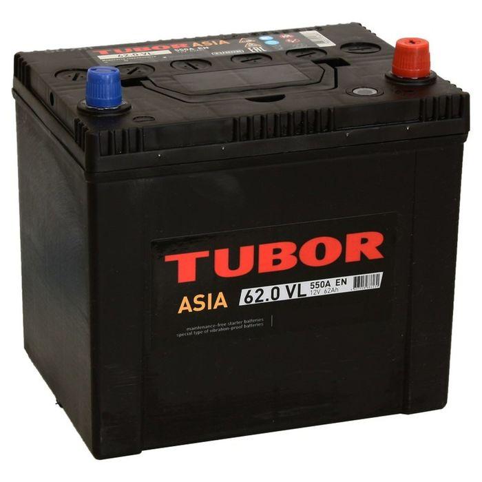 Аккумуляторная батарея Tubor Asia 62 Ач, обратная полярность