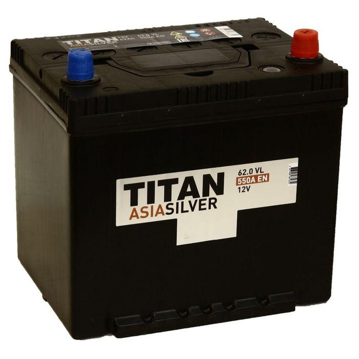 Аккумуляторная батарея Titan Asia Silver 62 Ач, обратная полярность, нижнее крепление