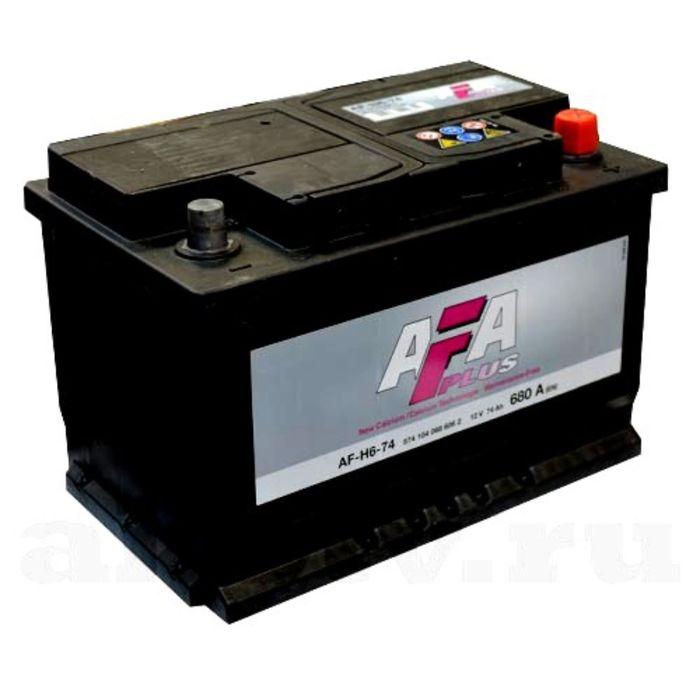 Аккумуляторная батарея AFA AF-H6-74, 74 А/ч - 6СТ АПЗ, обратная полярность