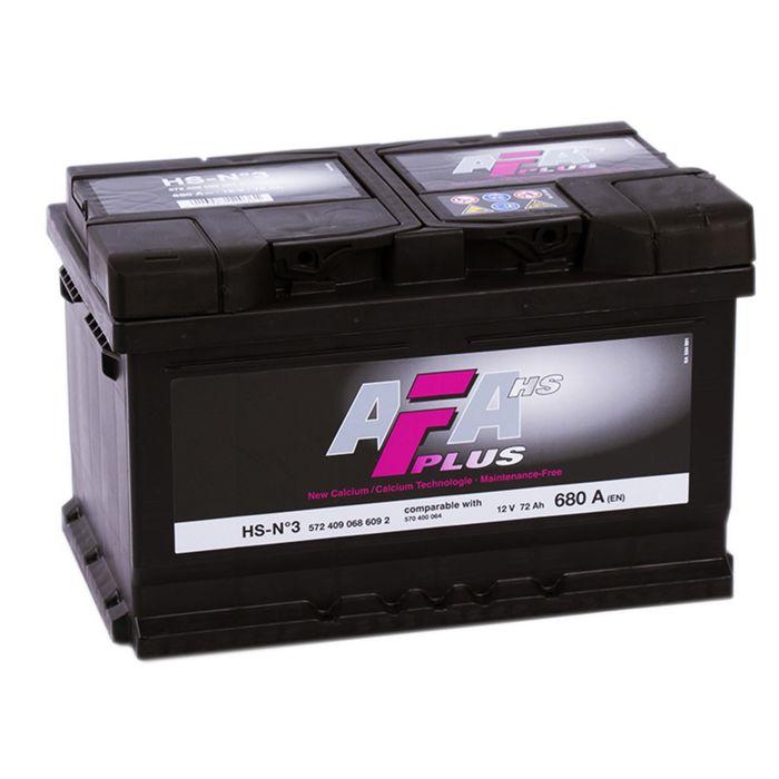 Аккумуляторная батарея AFA HS-N3, 72 А/ч - 6СТ АПЗ низ. обратная полярность