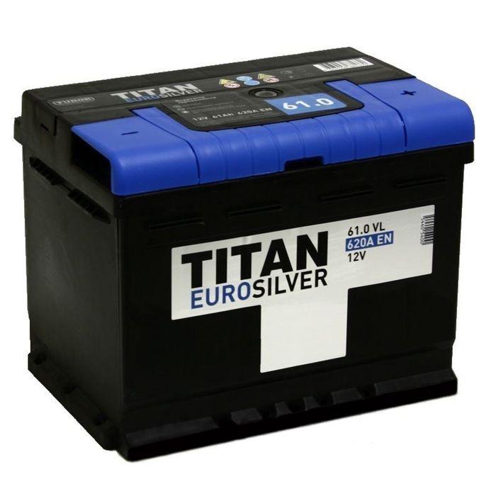 Аккумуляторная батарея Titan Euro Silver 61 Ач, обратная полярность