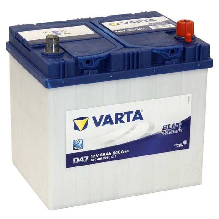 Аккумуляторная батарея Varta 60 Ач, обратная полярность Blue Dynamic 560 410 054