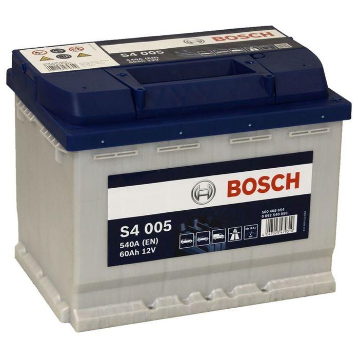Аккумуляторная батарея Bosch 60 Ач, обратная полярность S4 560 408 054