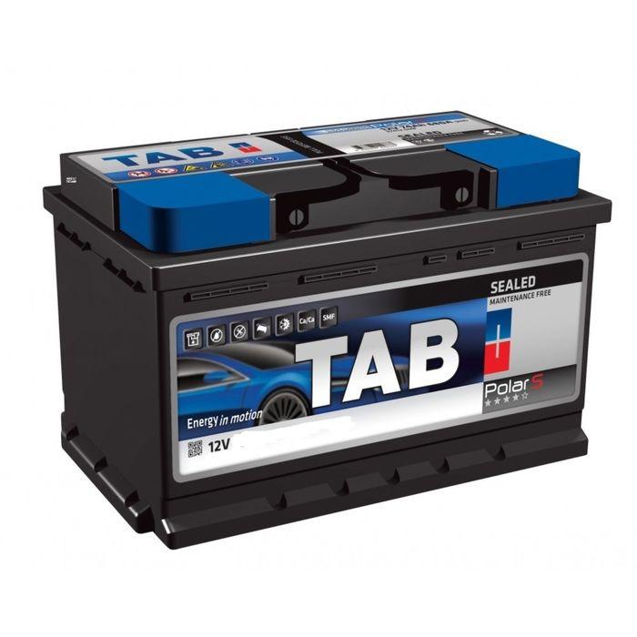 Аккумуляторная батарея TAB Роlar 74 А/ч - 6СТ АПЗ, прямая полярность