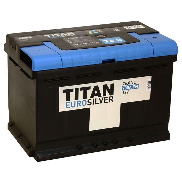 Аккумуляторная батарея Titan Euro Silver 76 Ач, обратная полярность