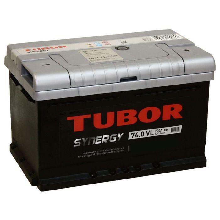 Аккумуляторная батарея Tubor Synergy 74 Ач, обратная полярность, низкий