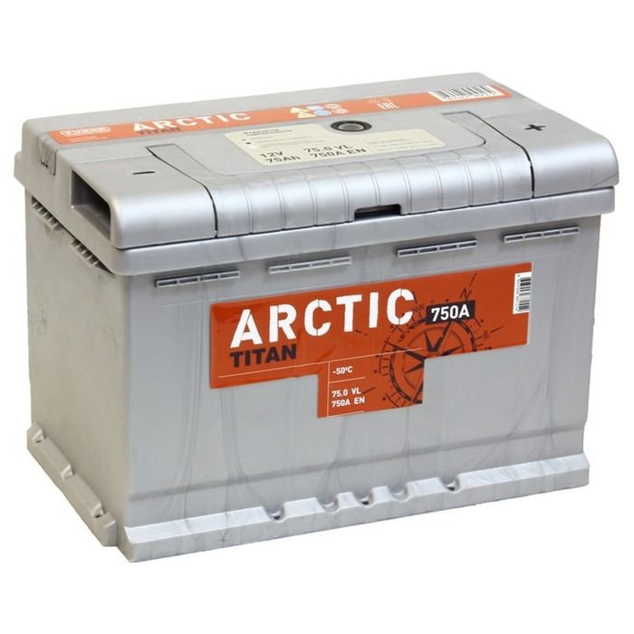 Аккумуляторная батарея Titan Arctic Silver 75 Ач, обратная полярность