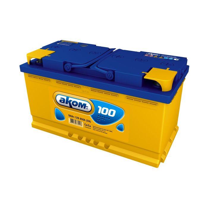 Аккумуляторная батарея АКОМ 100 А/ч - 6 СТ АПЗ, прямая полярность