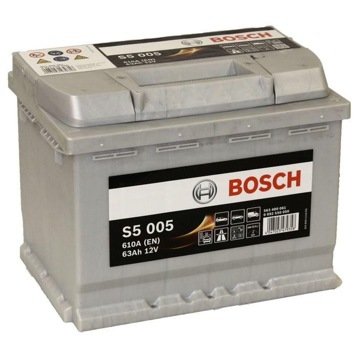 Аккумуляторная батарея Bosch 63 Ач, обратная полярность S5 563 400 061