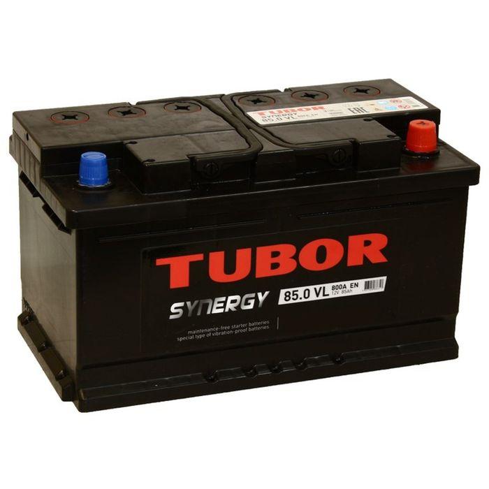 Аккумуляторная батарея Tubor Synergy 85 Ач, обратная полярность, низкий