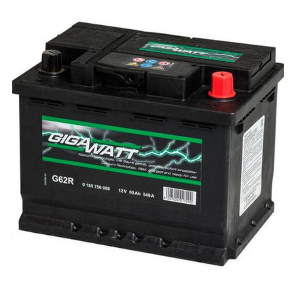 """Аккумулятор Gigawatt 60Ah """"- +"""" (560408)"""