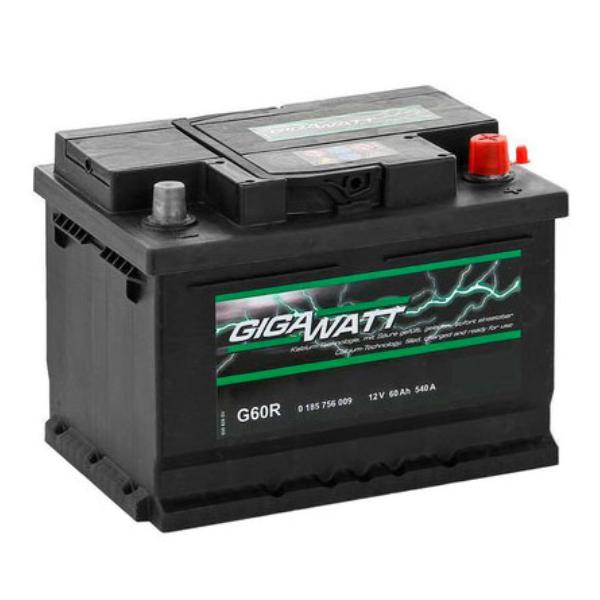"""Аккумулятор Gigawatt 60Ah """"-  +"""" (560409)"""