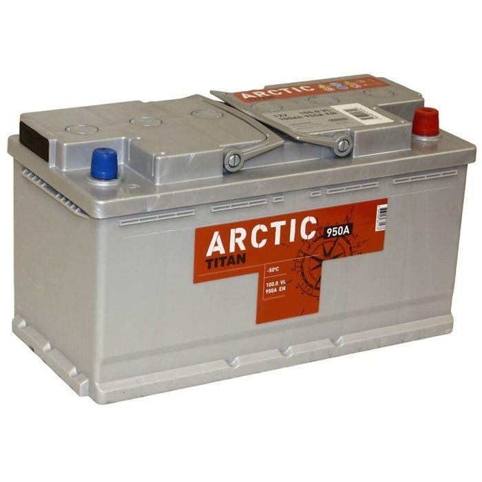 Аккумуляторная батарея Titan 100 Ач, обратная полярность Arctic Silver