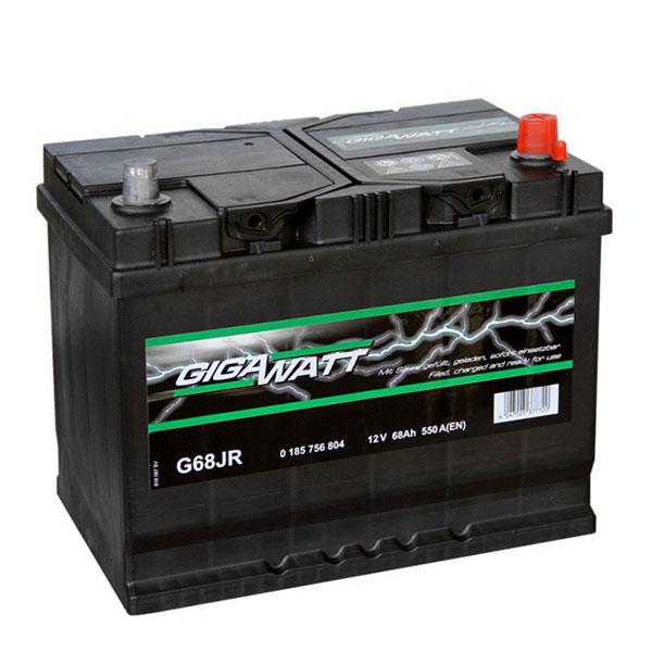 """Аккумулятор Gigawatt 68Ah """"- +"""" (568404)"""