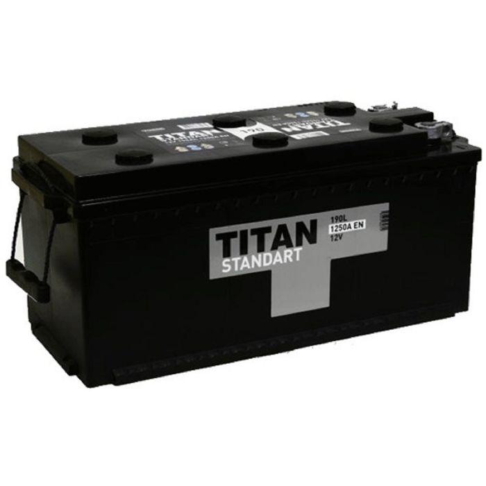 Аккумуляторная батарея Titan 190 Ач, в комплекте с переходниками конус-болт Standart