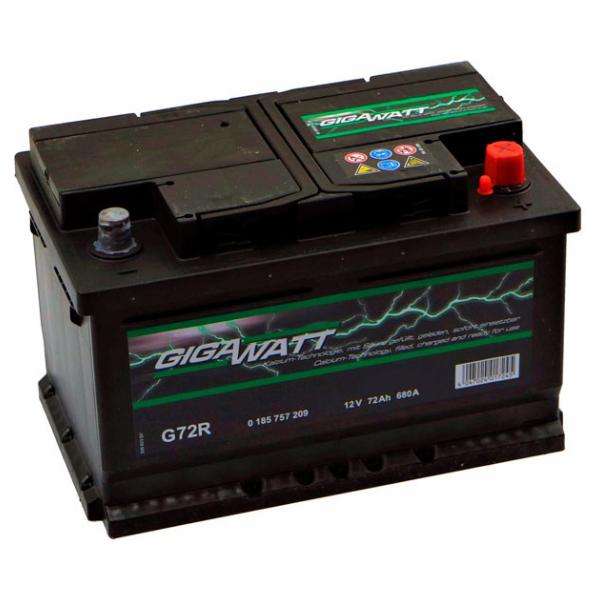 """Аккумулятор Gigawatt 72Ah """"- +"""" (572409)"""