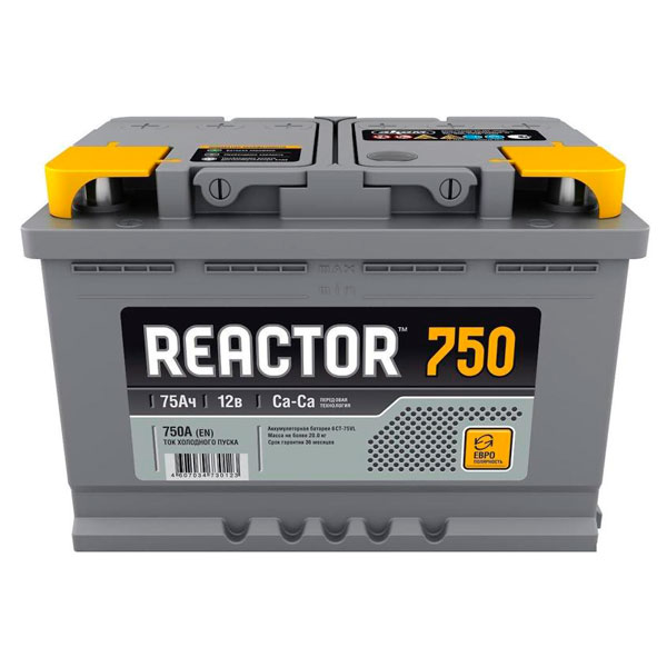 Аккумулятор Аком Reactor 6СТ-75Ah L