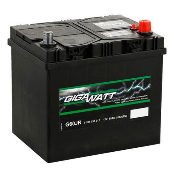 """Аккумулятор Gigawatt 60Ah """"- +"""" (560412)"""
