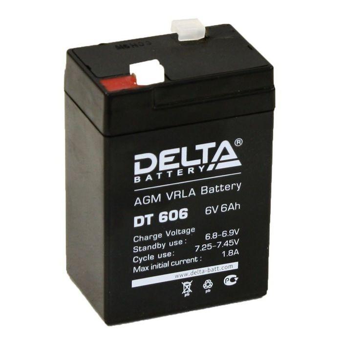 Аккумуляторная батарея Delta 6 Ач 6 Вольт DT 606