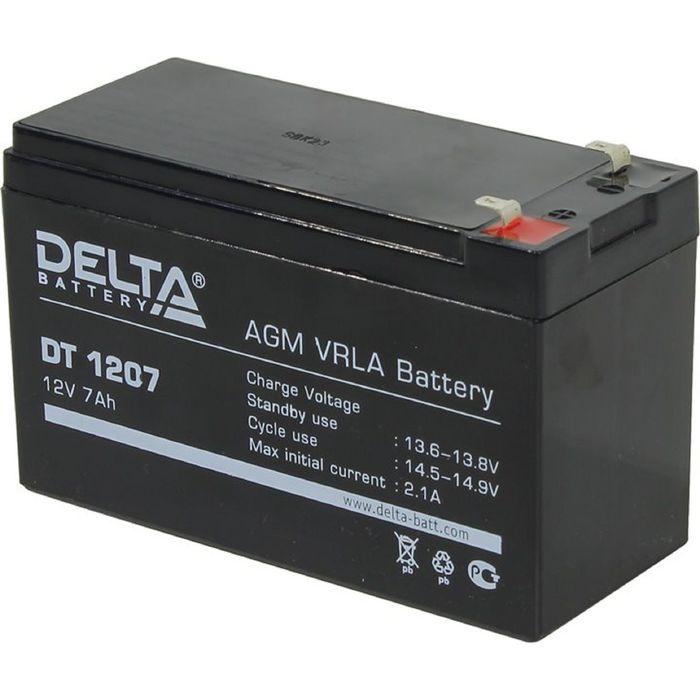 Аккумуляторная батарея Delta 7 Ач 12 Вольт DT 1207