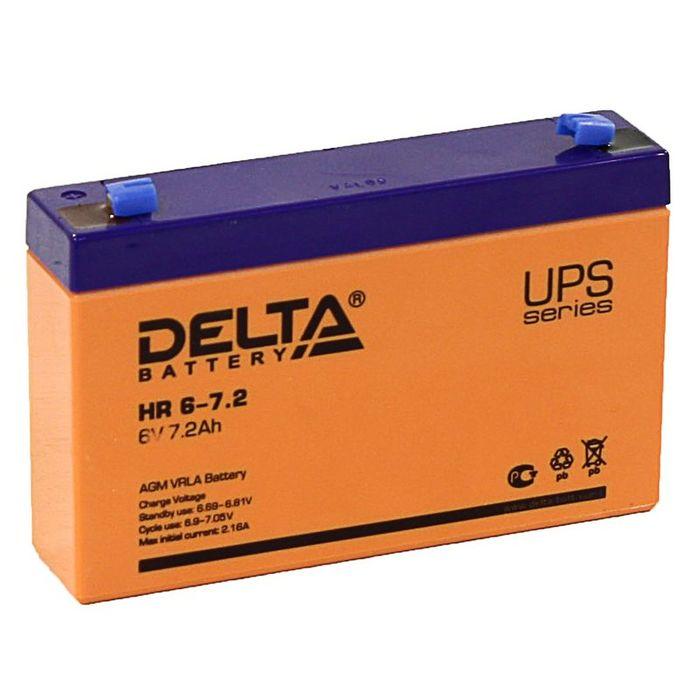 Аккумуляторная батарея Delta 7,2 Ач 6 Вольт HR 6-7,2