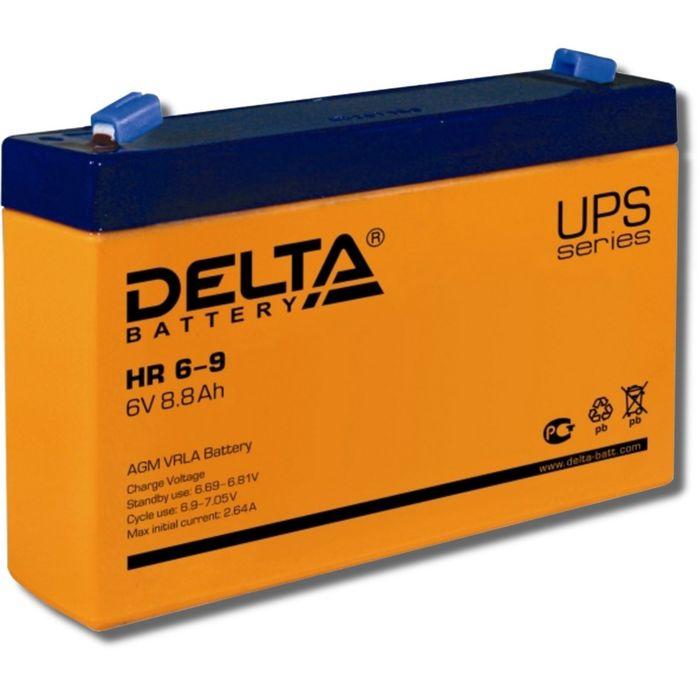 Аккумуляторная батарея Delta HR6-9, 6 В, 8.8 А/ч