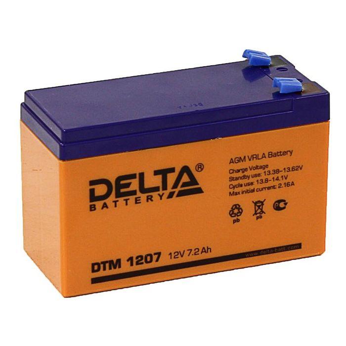 Аккумуляторная батарея Delta 7 Ач 12 Вольт DTM 1207