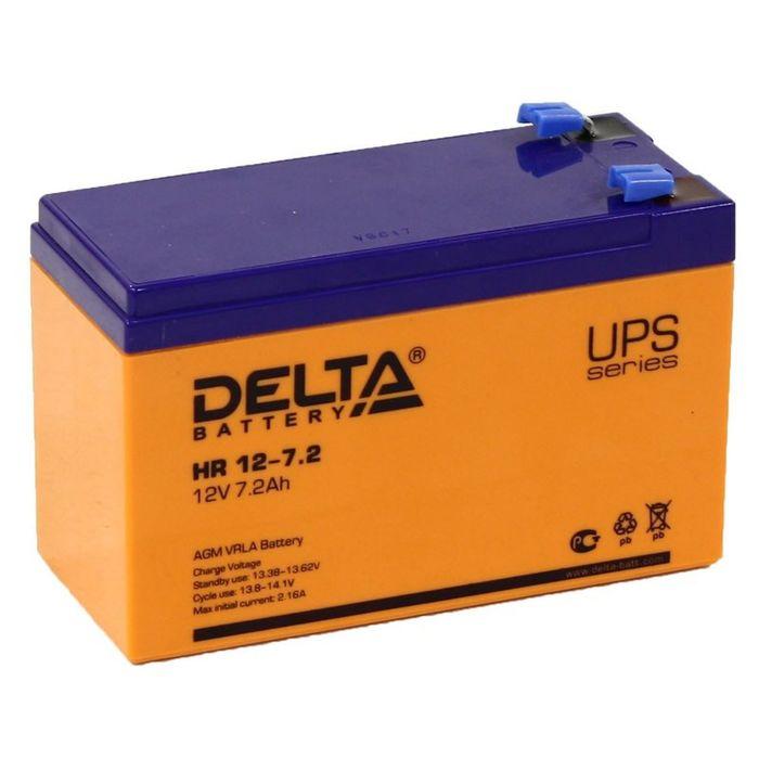Аккумуляторная батарея Delta 7,2 Ач 12 Вольт HR 12-7,2
