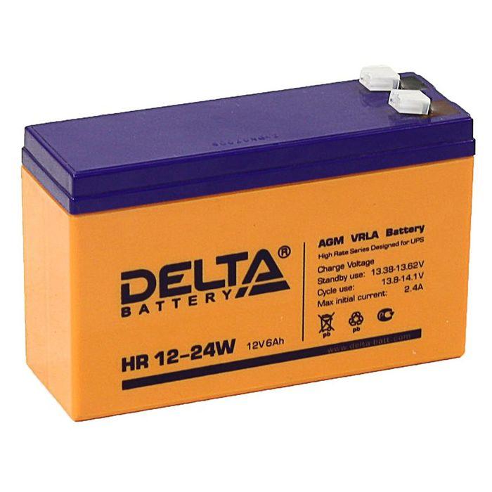 Аккумуляторная батарея Delta 6 Ач 12 Вольт HR 12-24W