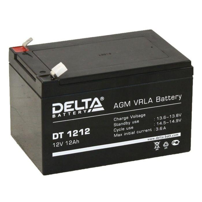 Аккумуляторная батарея Delta 12 Ач 12 Вольт DT 1212