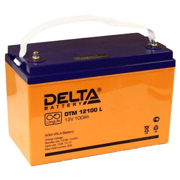 Аккумуляторная батарея Delta 100 Ач 12 Вольт DTM 12100 L