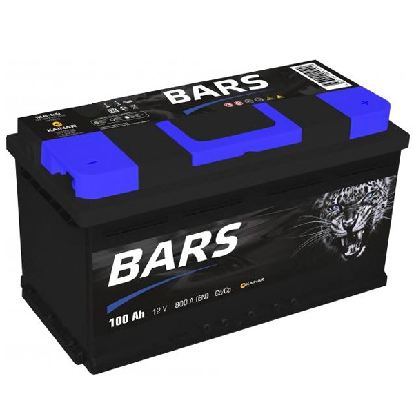 Аккумулятор Барс 6СТ-100Ah -/+