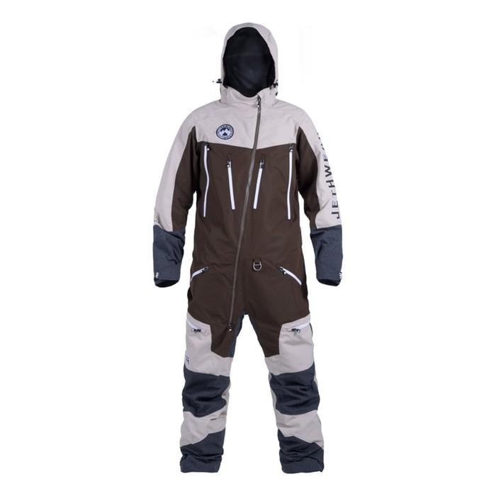 Комбинезон Jethwear Freedom без утеплителя, размер L, белый, коричневый, серый