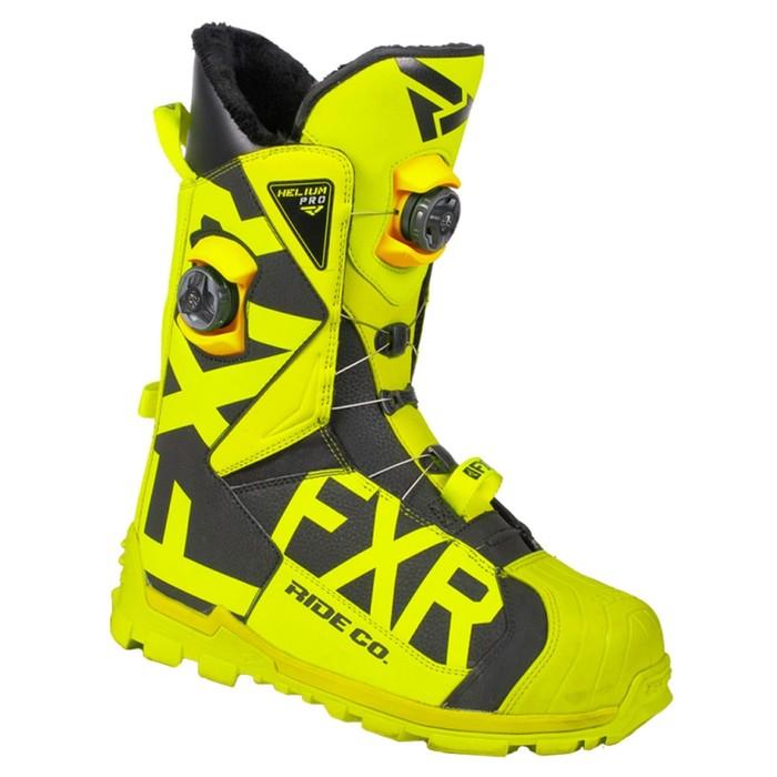 Ботинки FXR Helium Pro BOA с утеплителем, размер 42, жёлтый, чёрный