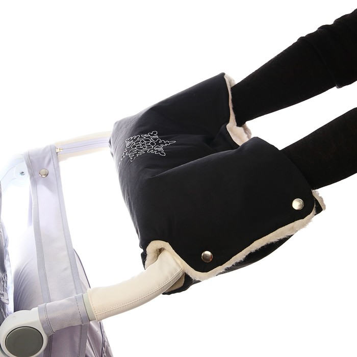 Муфта на коляску «Снежинка», цвет чёрный