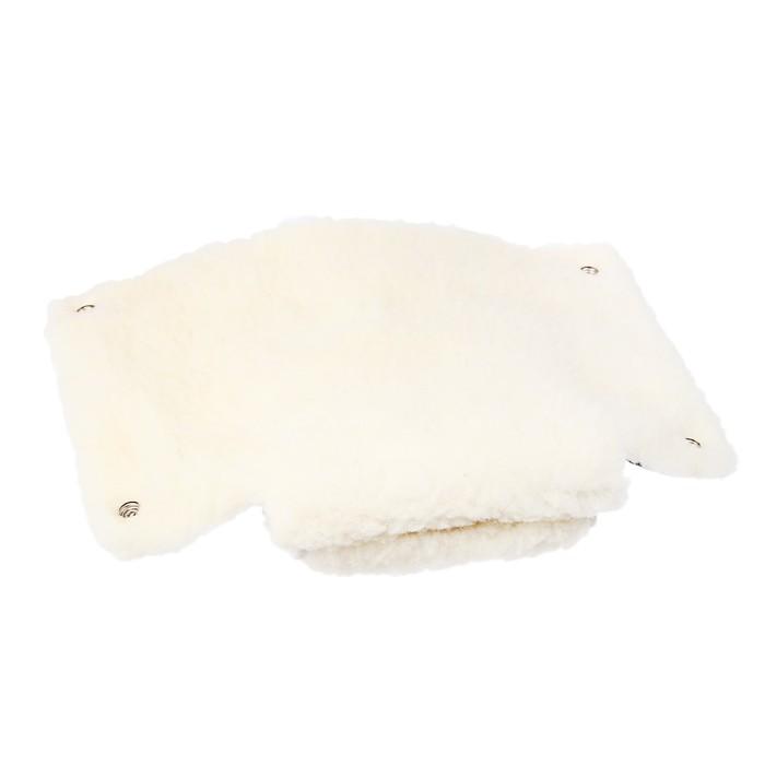 Муфта-варежки на коляску «Снежинка», цвет чёрный