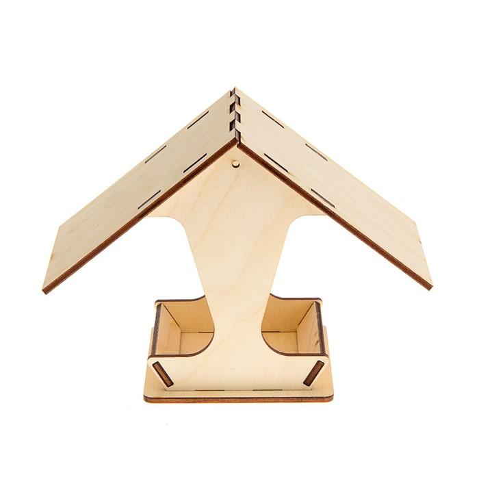 Кормушка для птиц 10,5*10,5*15 см