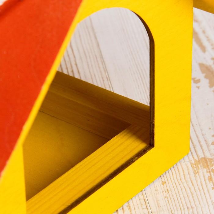 Кормушка для птиц «Теремок», 22 × 20 × 18 см, цвет МИКС