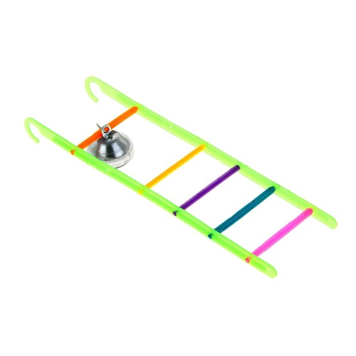 Игрушка для птиц лестница с колокольчиком