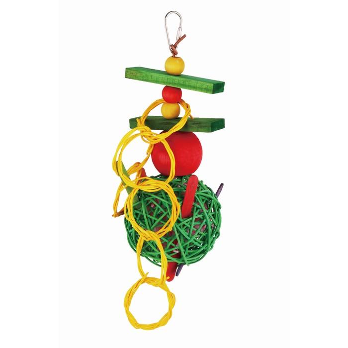 """Игрушка Fauna INT """"Плетеный мяч с кольцами"""", для птиц"""