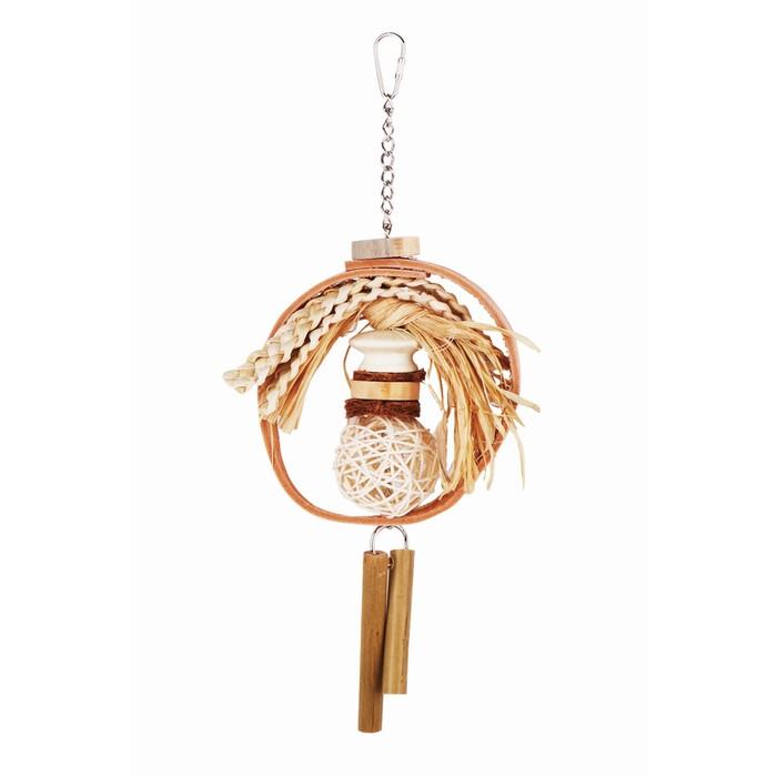 """Игрушка Fauna INT """"Кольцо с плетеным мячом"""", для птиц"""
