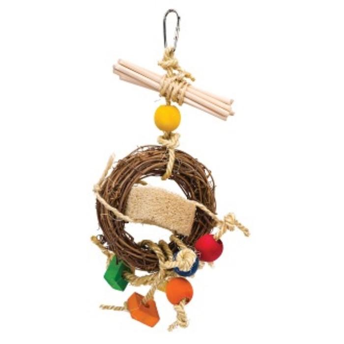 "Игрушка PENN-PLAX ""Венок с шариками"",  для птиц, 30см"