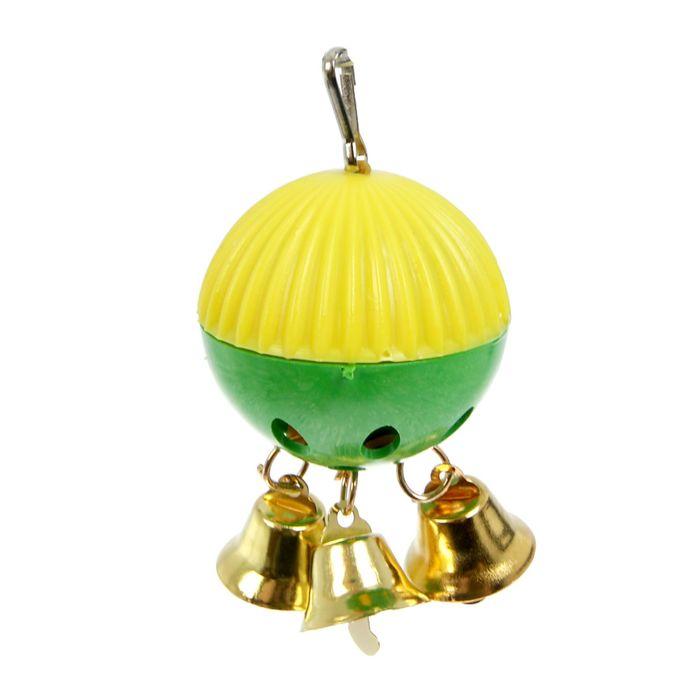 """Игрушка для попугая """"Забава"""" с 3 колокольчиками"""
