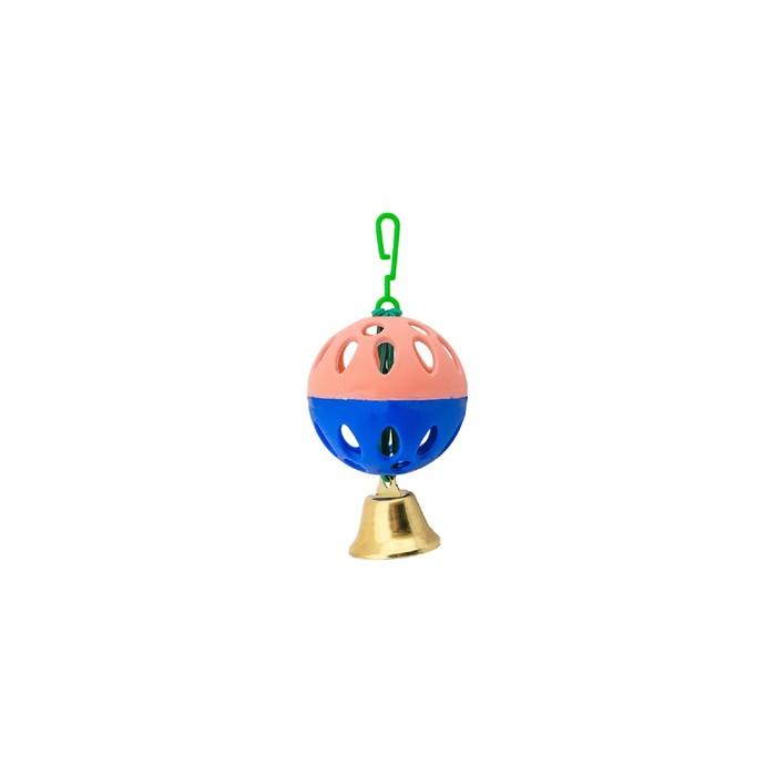 Игрушка для птиц 1 шарик с колокольчиком