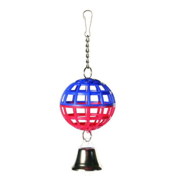 Пластиковый Trixie шарик с колокольчиком Ф5см.