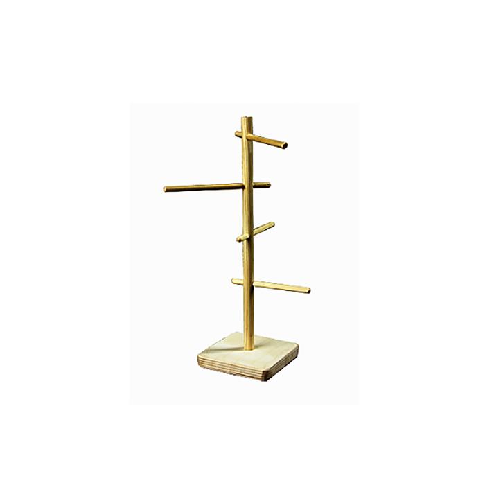 Игрушка для птиц в клетку деревянная, столбик с нанестами, 10 х 10 х 26 см